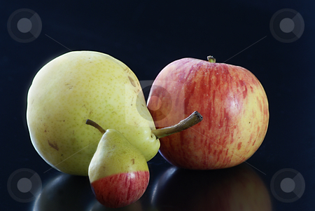 Transgenic stock photo, Transgenic fruit from pear and apple. by Serge VILLA