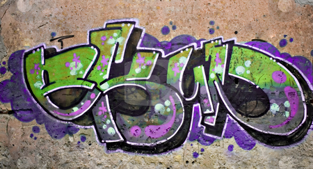 Street art stock photo, Graffiti tag in abondon house by Paulo Resende