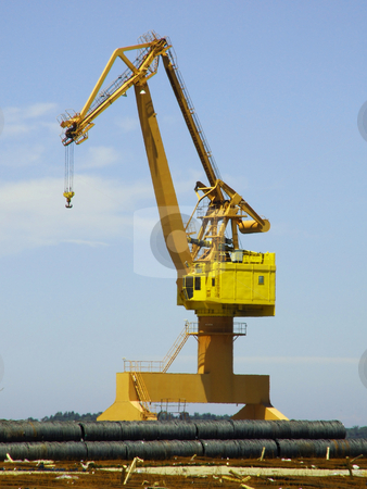 Dock crane stock photo,  by Paulo Resende