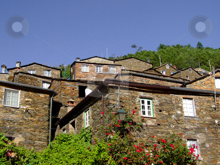 Village of Piodeo stock photo, Typical stone village in the mountain by Paulo Resende