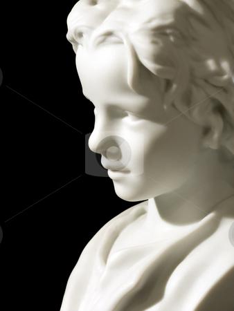 Boy head stock photo, Porcelain boy head on a black background by Paulo Resende