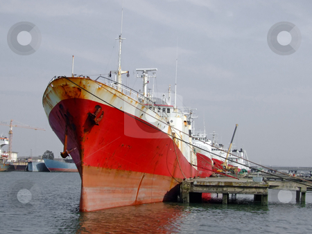 Big ship into dock stock photo, Big ship into dock by Paulo Resende