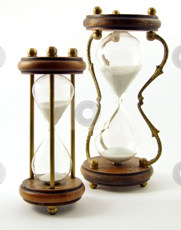 Hourglass stock photo, Hourglass isolated on white by Paulo Resende