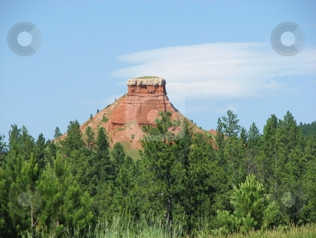 Chimney Rock stock photo, Taken In The Black Hills Of South Dakota by Brian Meyer