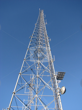 Communication Tower stock photo, Taken At Terry Peak In The Black Hills Of South Dakota by Brian Meyer