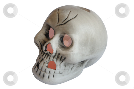 Halloween Skull stock photo, Halloween skull with glowing eyes by Will Burwell