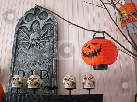 Halloween menagerie interior 1 stock photo,  by J.G. Byers