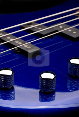 Bass guitar stock photo, Macro of a bass guitar by Vince Clements