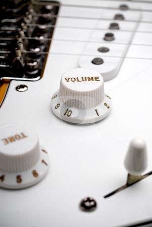 Guitar volume control stock photo, Closeup of a guitar volume control knob by Vince Clements