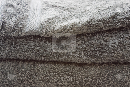 Bath Towels stock photo, A stack of green bath towels by Nicholas Rjabow