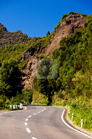 Mountain road in Madeira  stock photo, Mountain road in Madeira Island by Vitaly Sokolovskiy