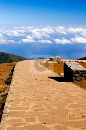 Road to blue sky in Madeira Island stock photo, Road to blue sky on Pico do Arieiro in Madeira Island, Portugal by Vitaly Sokolovskiy