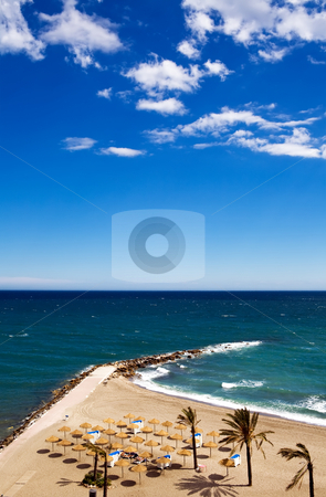 View of Costa Del Sol beach stock photo, View of Costa Del Sol beach, Spain by Vitaly Sokolovskiy