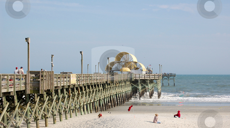Pier at beach stock photo,  by Liane Harrold