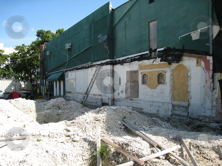 Renovation  stock photo, Building being torn down in Miami, Florida by Tom Falco