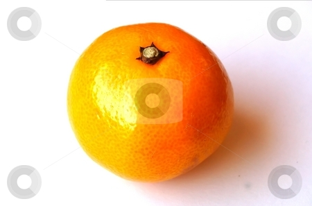 Mandarin Orange stock photo, A mandarin orange on a white background, daylight, no flash used by Lars Kastilan