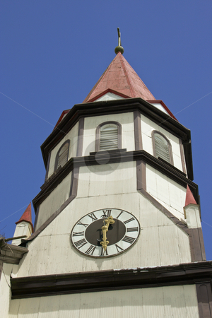 Wooden Church stock photo, White wooden church in the city of Puerto Varas,south Chile by Rafael Franceschini