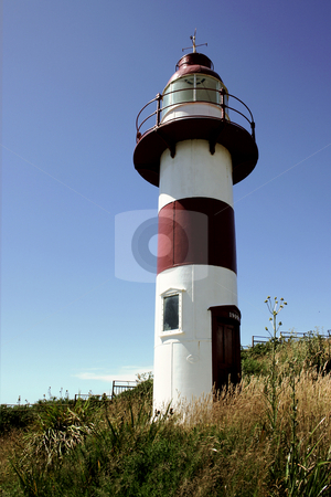 Lighthouse stock photo, Lighthouse in the city of Vald???via , Chile by Rafael Franceschini