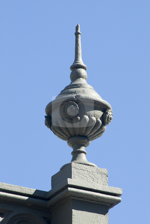 Ornamental earn stock photo, An ornamental concrete earn on top of an old building, sydney, australia by Stephen Gibson
