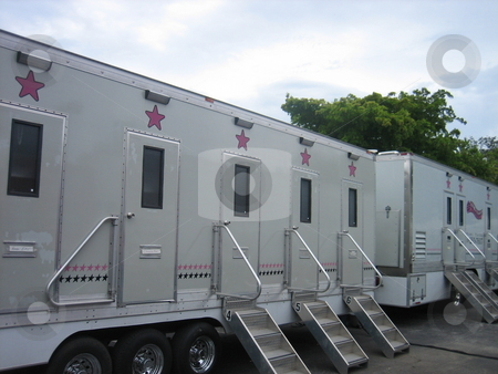 Hollywood trailers stock photo, Hollywood dressing room trailers by Tom Falco