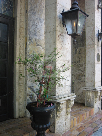 Gothic restaurant entrance stock photo, Gothic restaurant entrance. Christabelle's Quarter, Coconut Grove, Florida by Tom Falco