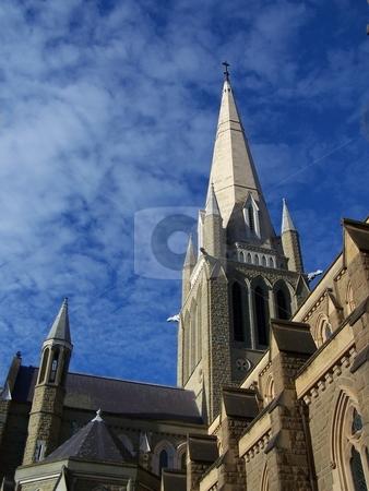 Spire of Bendigo Cathedral stock photo, The spire of the Cathedral in Bendigo, north of Melbourne, Australia. by JKJ Anderson