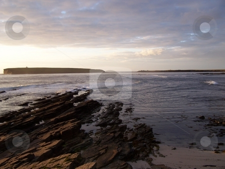 Brough of Birsay and Bay of Birsay not touching stock photo, The Brough of Birsay, a tidal island off Mainland, Orkney Islands, has many Viking remains upon it. by JKJ Anderson