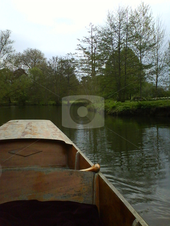 View from a punt. stock photo, A lazy afternoon spent on the river Thames in Oxford, UK. by JKJ Anderson