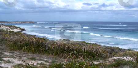Surfing beach at Rottnest Island stock photo, One of Rottnest Island's many surfing beaches, just off the coast from Fremantle and Perth, Australia. by JKJ Anderson