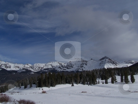 Lizard Head Pass in winter, Colorado stock photo, Taken near the town of Telluride, Colorado, at the top of Lizard Head Pass. by JKJ Anderson
