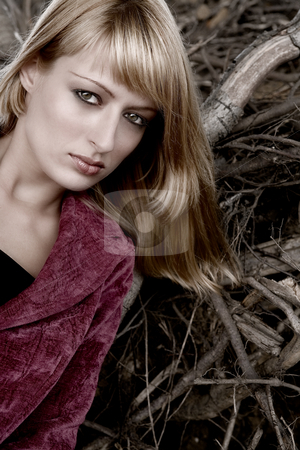 Beauty portrait outside  stock photo, Fashion shoot by Frenk and Danielle Kaufmann