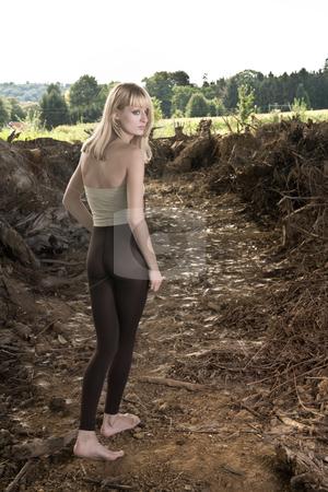 Fashon shoot  walking away stock photo, Walking away in a fashion shoot by Frenk and Danielle Kaufmann