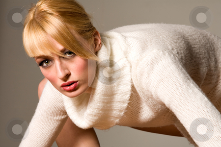 Close up stock photo, Portrait of a beautiful blond girl by Frenk and Danielle Kaufmann
