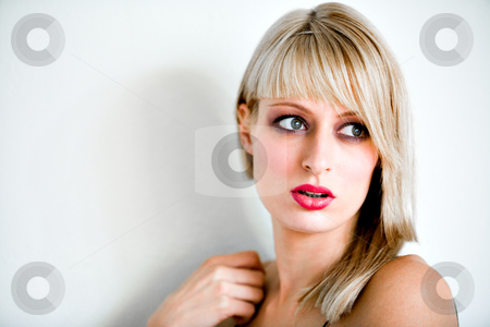 Surpirised stock photo, Portrait of a beautiful blond girl by Frenk and Danielle Kaufmann
