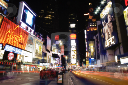 Times Square at Night stock photo, Beautiful nighttime photos of New York's Times Square by Barry Link