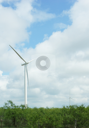 Windmill stock photo, Windmill generator in the open plains by Sam Sapp