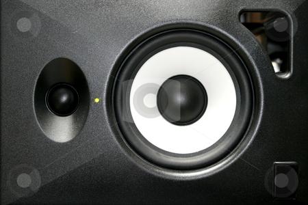 Loudspeaker stock photo, A generica home or studio audio speaker. by Henrik Lehnerer