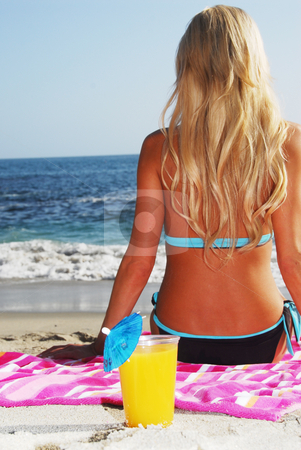 Afternoon Fun at the Beach stock photo,  by Timothy OLeary