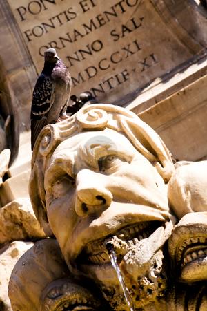 Fountain in Rome stock photo, Fountain on Piazza della Rotonda in Rome, Italy by Vitaly Sokolovskiy