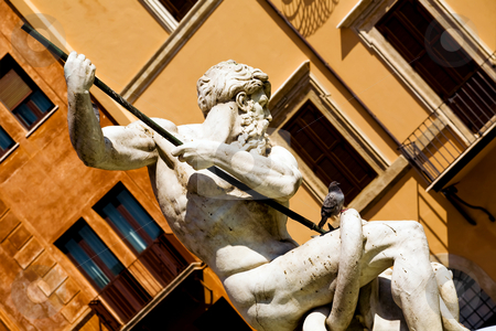 Fountain in Rome stock photo, Fountain on Piazza Navona in Rome, Italy by Vitaly Sokolovskiy