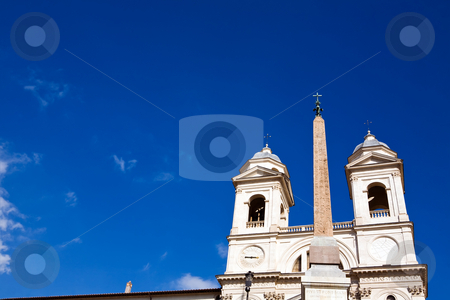 Church Trinita dei Monti stock photo, Famous church Trinita dei Monti in Rome, Italy by Vitaly Sokolovskiy