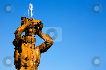 Fontana del Tritone in Rome stock photo, Fontana del Tritone on Piazza della Rotonda in Rome, Italy by Vitaly Sokolovskiy