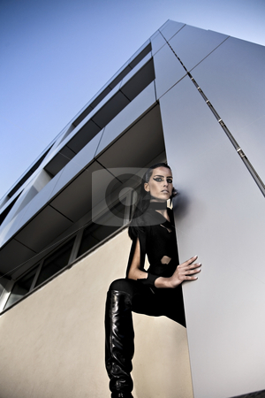 This is not my place stock photo, Model in futurist scenes by Luca Mosconi