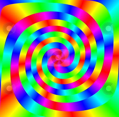 Colorful spiral stock photo, Spiral shapes  intertwined in many bright colours by Wino Evertz