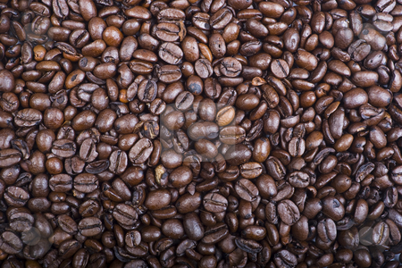 Coffee Bean Texture stock photo, A texture of espresso coffee beans filling an entire frame by Steve Smith