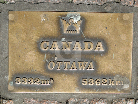 Canada and ottawa sign stock photo, Canada and ottawa sign by Mbudley Mbudley