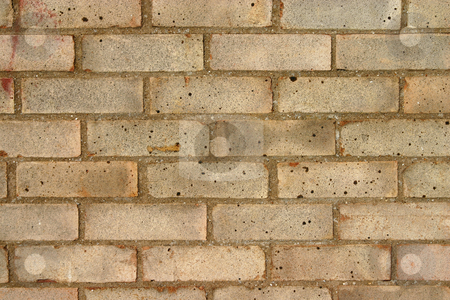 Wall Texture stock photo, A full frame of bricks forming a wall by Steve Smith