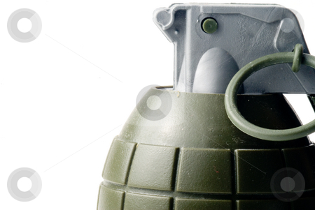 Hand Grenade stock photo, A military hand grenade ready for action. by Robert Byron
