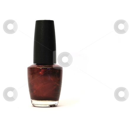 Red nailpolish stock photo, A bottle of red nailolish against white by Per W?