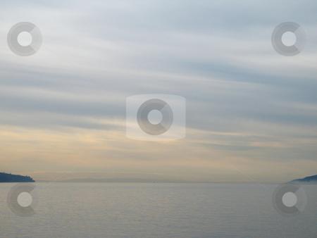 Monochromatic sky and ocean stock photo, Monochromatic sky and ocean by Mbudley Mbudley